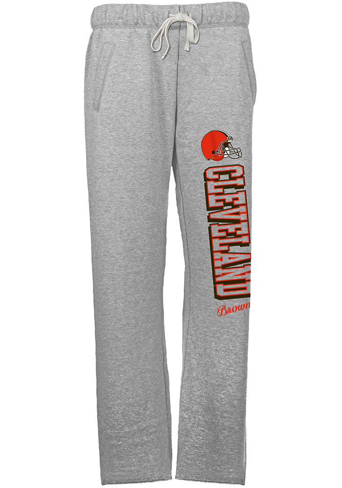 Cleveland Browns Womens French Terry Grey Sweatpants - Image 1