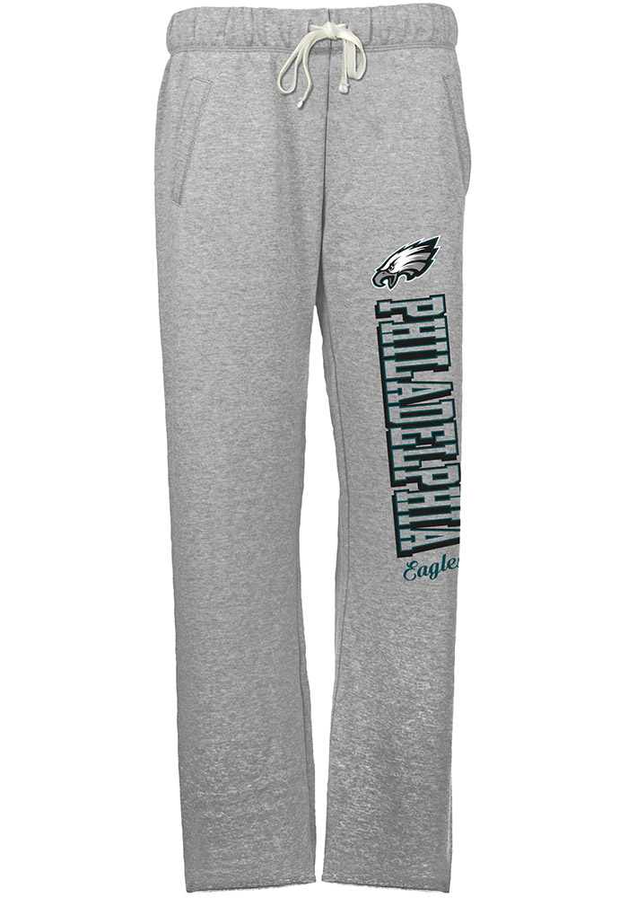 Philadelphia Eagles Womens French Terry Grey Sweatpants - Image 1