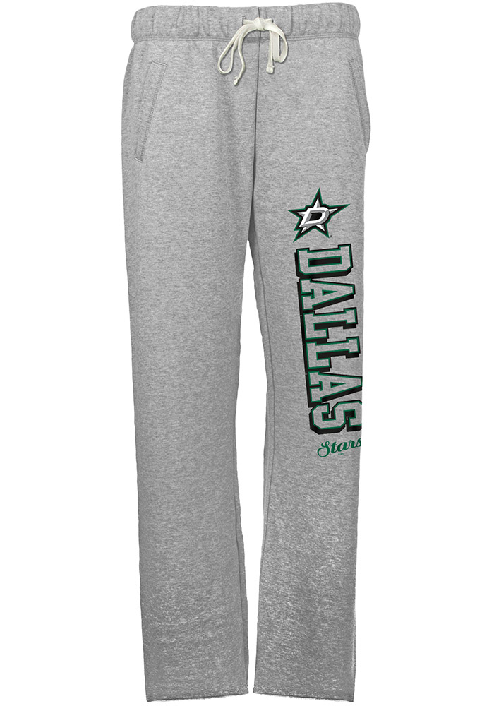 Dallas Stars Womens French Terry Grey Sweatpants - Image 1