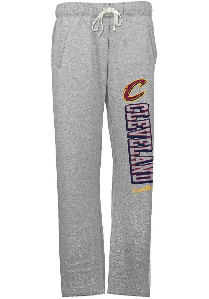 Cleveland Cavaliers Womens French Terry Grey Sweatpants - Image 1
