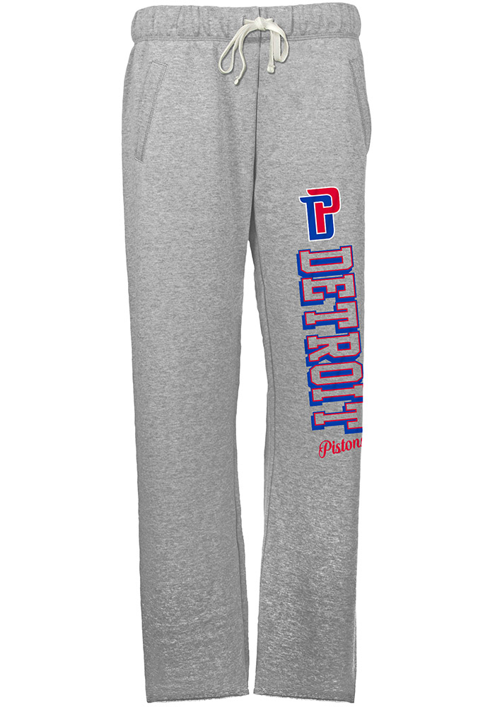 Detroit Pistons Womens French Terry Grey Sweatpants - Image 1