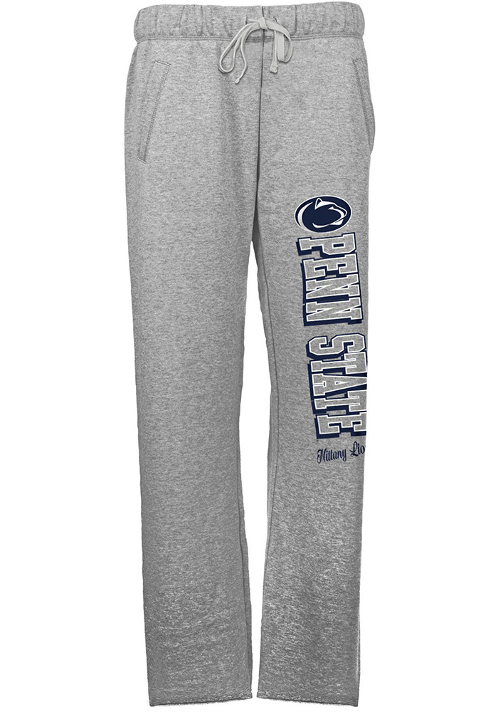 Penn State Nittany Lions Womens French Terry Grey Sweatpants - Image 1