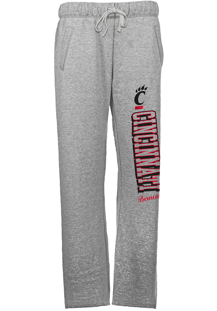 Cincinnati Bearcats Womens French Terry Grey Sweatpants - Image 1