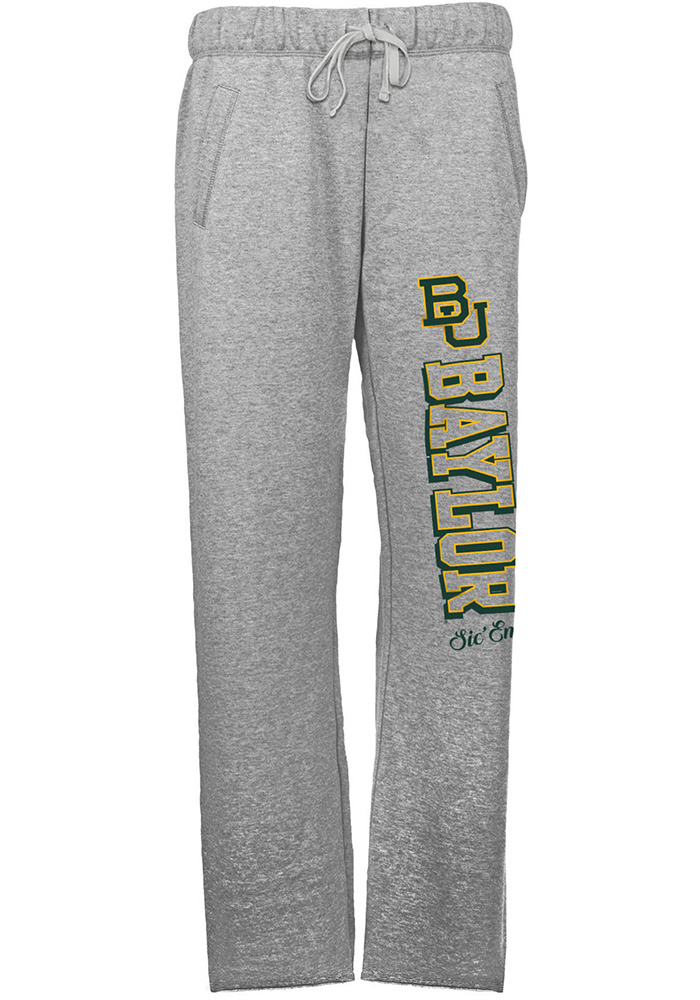 Baylor Bears Womens French Terry Grey Sweatpants - Image 1