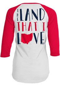 Cleveland Indians Womens Land That I Love White Scoop Neck Tee