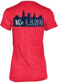 Cleveland Indians Womens Grey The Land Skyline T-Shirt