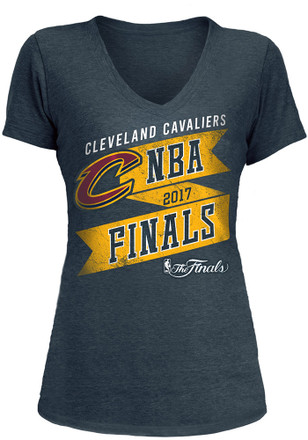 Cleveland Cavaliers Womens Navy Blue 2017 NBA Finals V-Neck