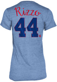 Anthony Rizzo Chicago Cubs Womens Blue Tri-Blend Player Tee