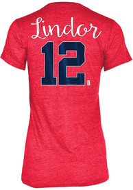 Francisco Lindor Cleveland Indians Womens Grey Tri-Blend Player Tee