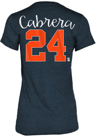 Miguel Cabrera Detroit Tigers Womens Grey Tri-Blend Player Tee