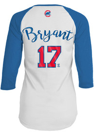2208671fe Kris Bryant Chicago Cubs Womens White Baby Jersey Long Sleeve Player T Shirt