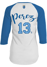 Salvador Perez Kansas City Royals Womens Baby Jersey Long Sleeve T-Shirt - White