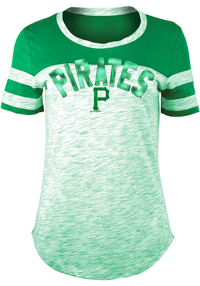 dd2efac72 Pittsburgh Pirates Womens Space Dye St. Pat s Day Kelly Green Scoop T-Shirt