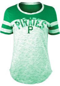 Pittsburgh Pirates Womens Space Dye St. Pats Day Kelly Green Scoop T-Shirt