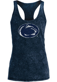 Penn State Nittany Lions Womens Navy Blue Mineral Wash Tank Top