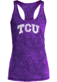 TCU Horned Frogs Womens Purple Mineral Wash Tank Top