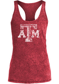 Texas A&M Aggies Womens Maroon Mineral Wash Tank Top