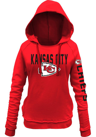 Kansas City Chiefs Womens Red Brushed Fleece Hoodie