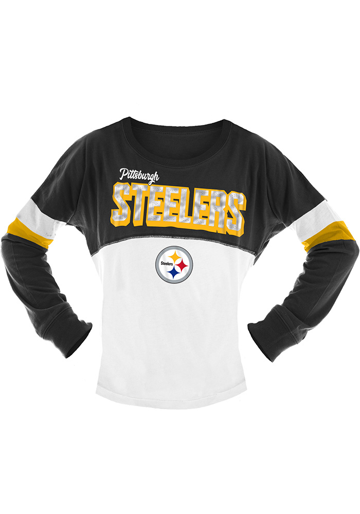 d84ed67ce6c Pittsburgh Steelers Girls Black Spirit Long Sleeve T-shirt