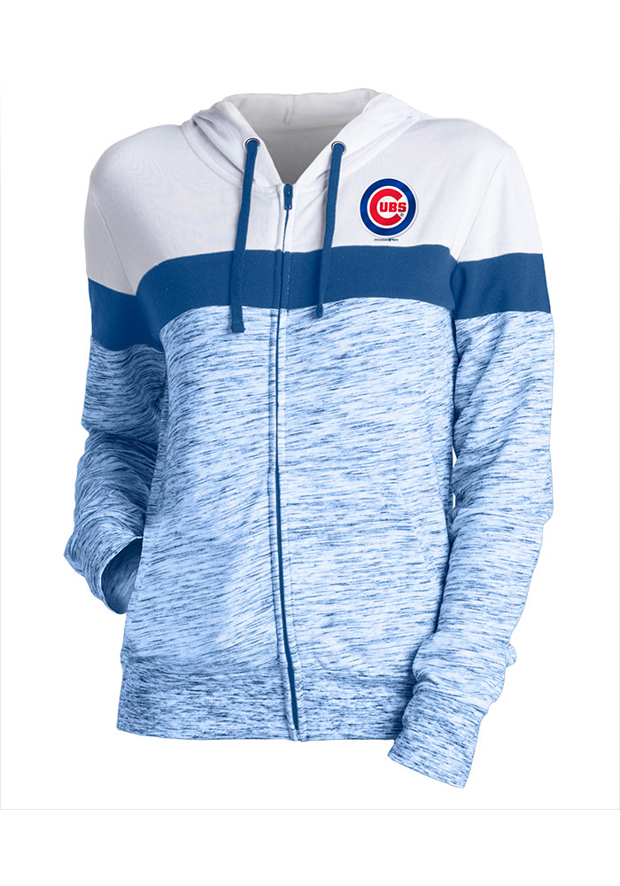 Chicago Cubs Womens Blue Novelty Full Zip Jacket