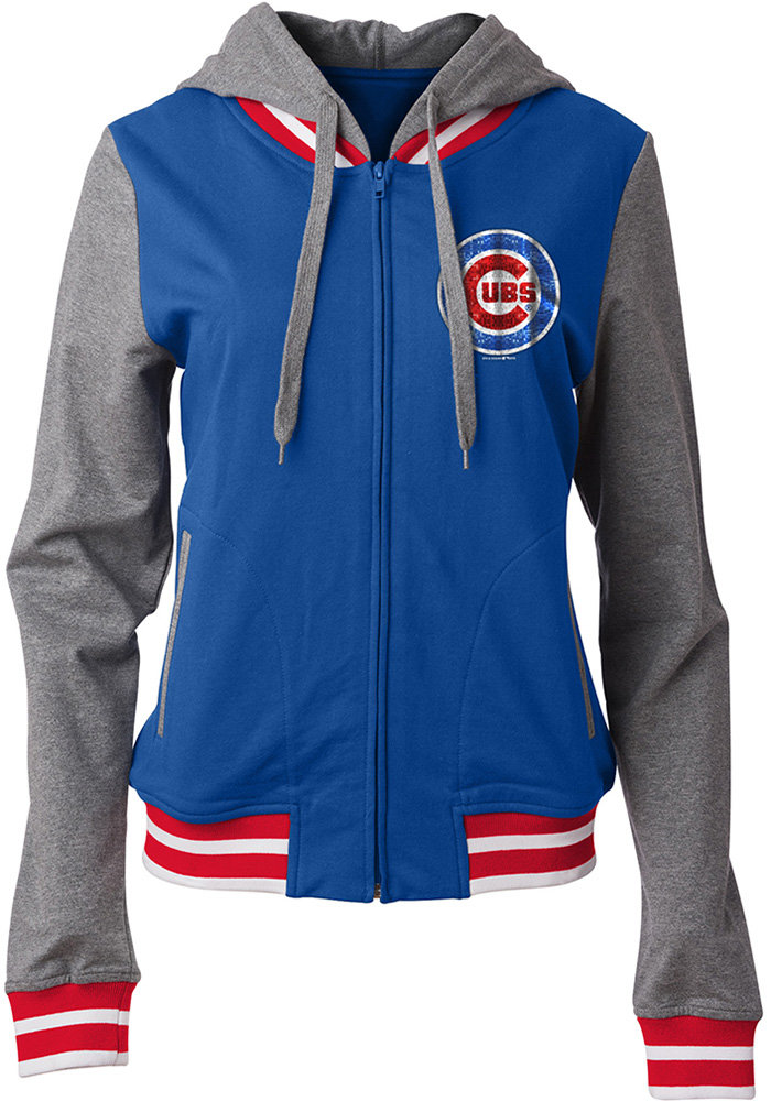 Chicago Cubs Womens Blue Opening Night Long Sleeve Full Zip Jacket - Image 1