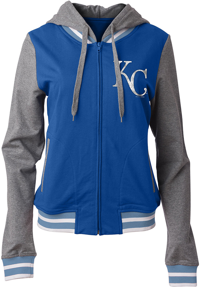 Kansas City Royals Womens Blue Opening Night Long Sleeve Full Zip Jacket - Image 1