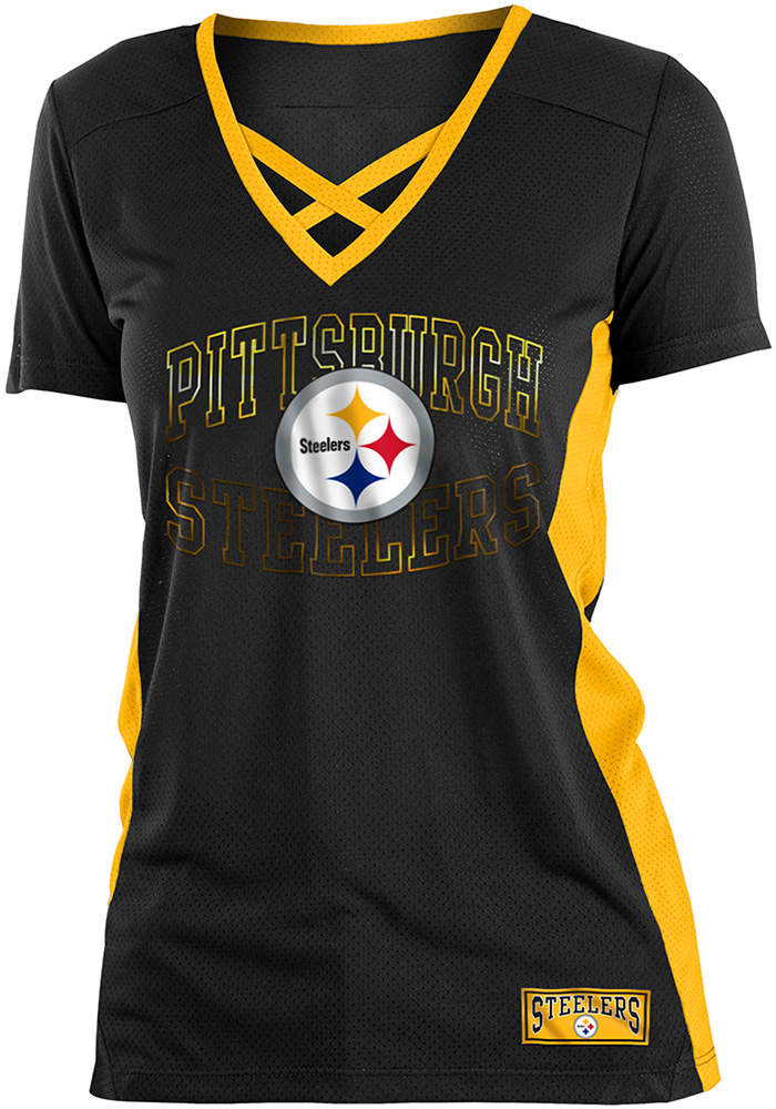 sale retailer 9b868 f662d Pittsburgh Steelers Womens Training Camp Fashion Football Jersey - Black