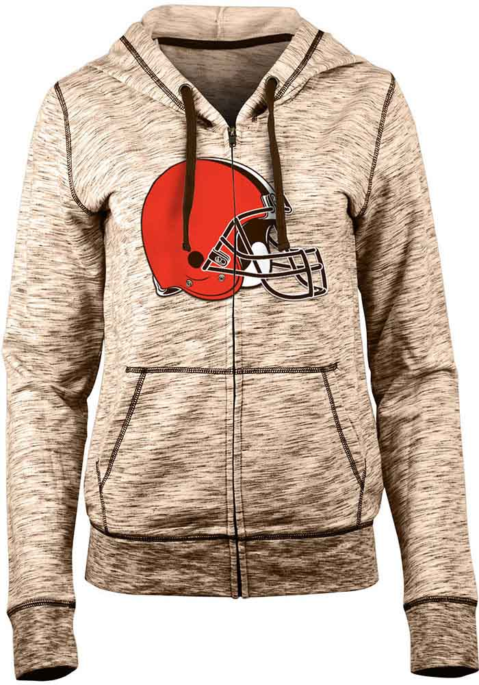Cleveland Browns Womens Brown Athletic Long Sleeve Full Zip Jacket - Image 1