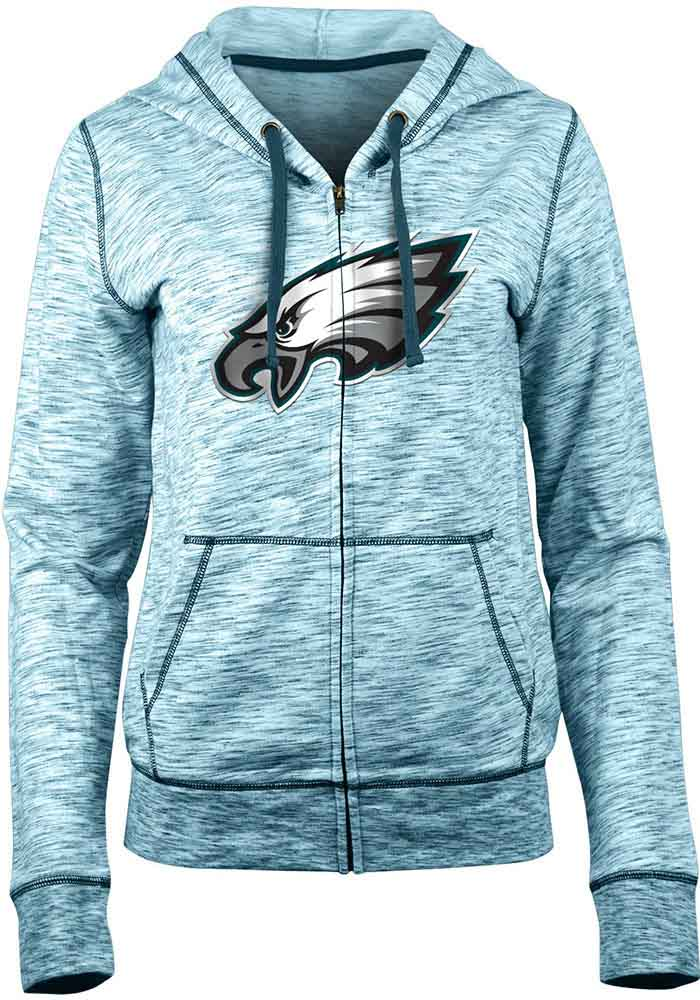 Philadelphia Eagles Womens Teal Athletic Long Sleeve Full Zip Jacket - Image 1