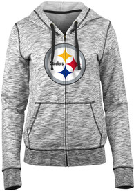 Pittsburgh Steelers Womens Athletic Full Zip Jacket - Black