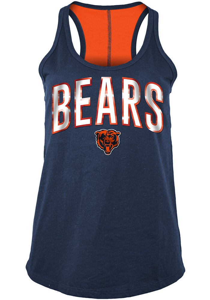 Chicago Bears Womens Navy Blue Training Camp Tank Top - Image 1