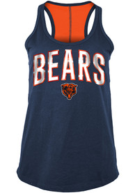 Chicago Bears Womens Training Camp Tank Top - Navy Blue