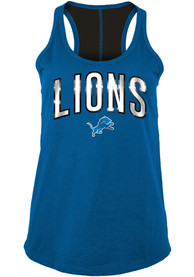 Detroit Lions Womens Training Camp Tank Top - Blue