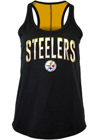 Pittsburgh Steelers Womens Training Camp Tank Top - Black
