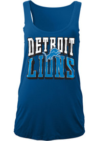 Detroit Lions Womens Washes Tank Top - Blue