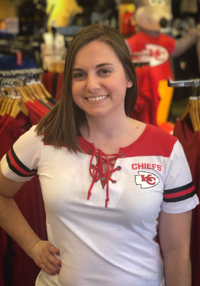 Kansas City Chiefs Womens White Athletic Short Sleeve T-Shirt - Image 3