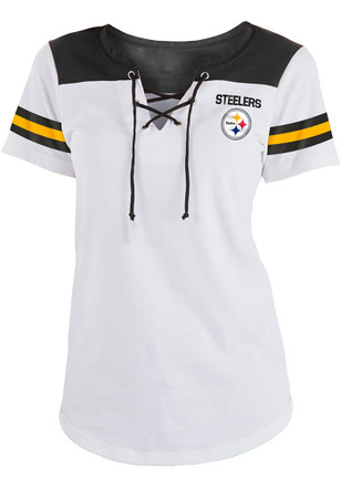 Pittsburgh Steelers Womens White Athletic T-Shirt 25ab3968e
