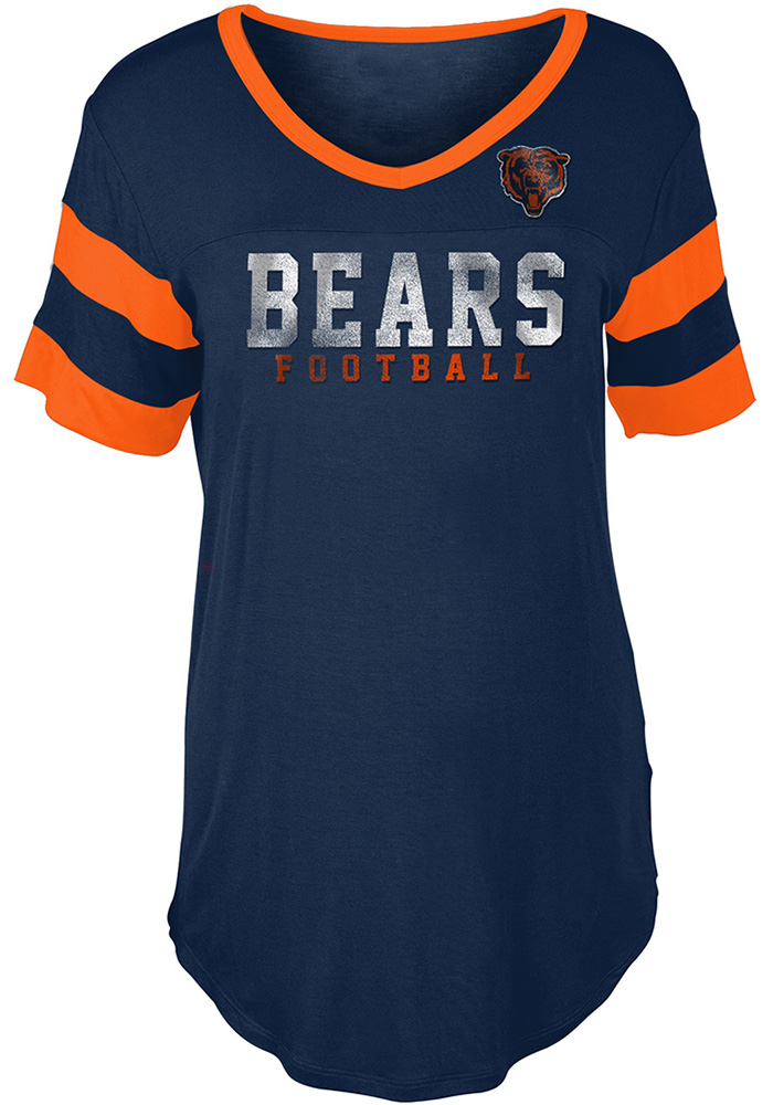 Chicago Bears Womens Navy Blue Athletic T-Shirt