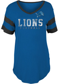 Detroit Lions Womens Blue Athletic T-Shirt