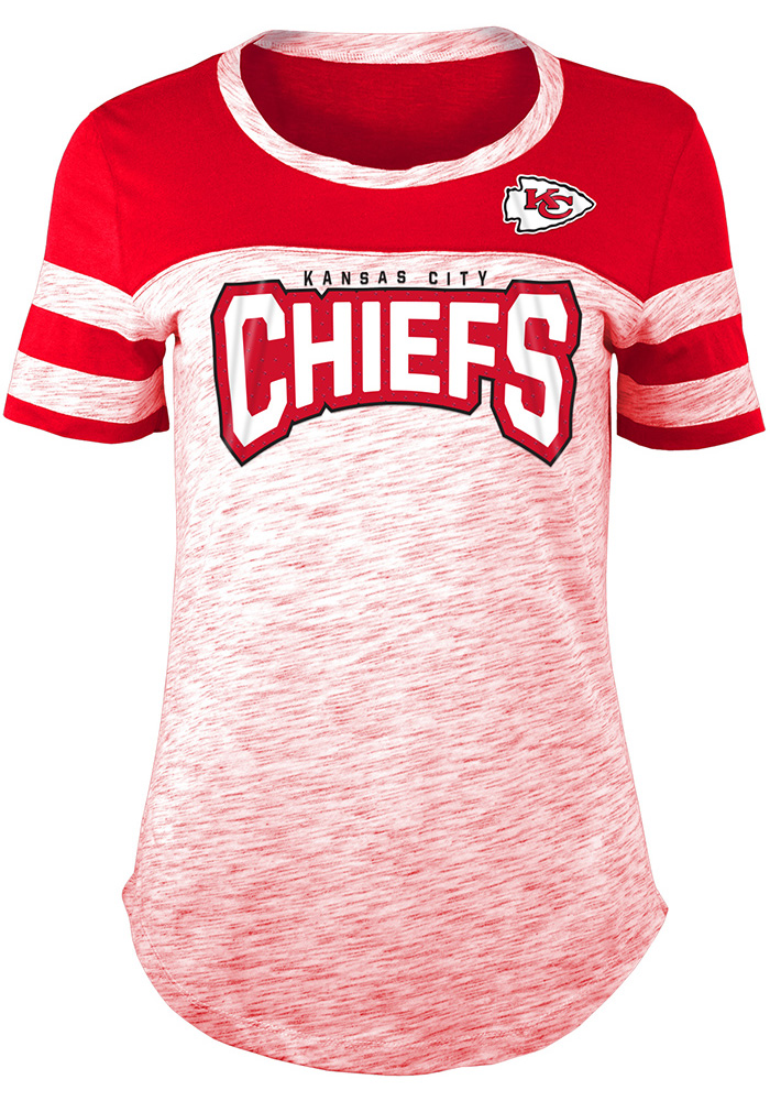 Kansas City Chiefs Womens Red Athletic Short Sleeve T-Shirt - Image 1