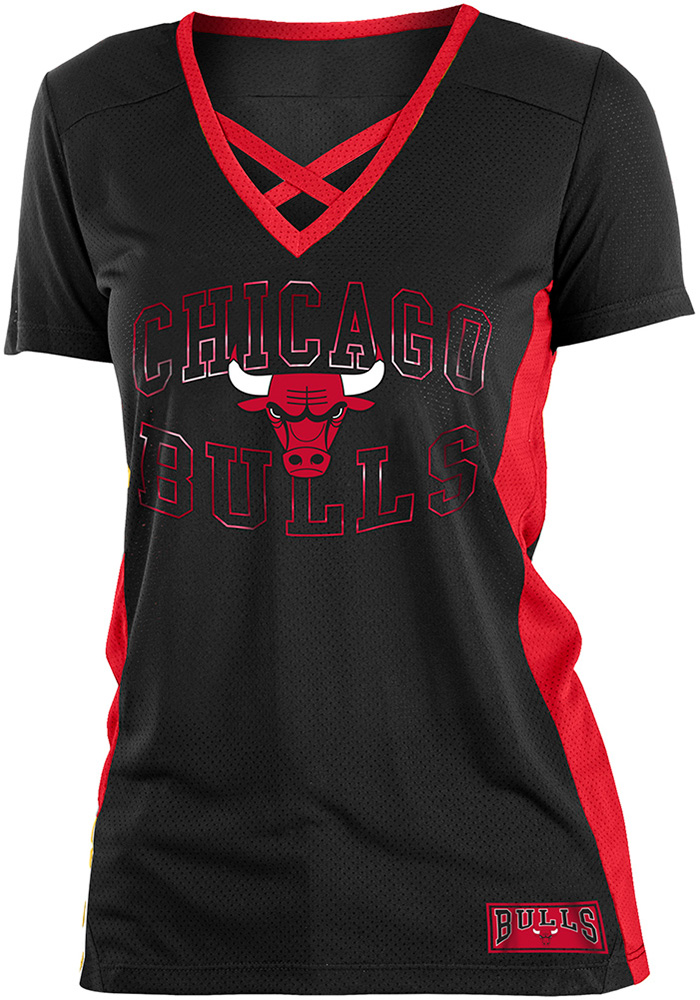 online store 33bcf 061e6 Chicago Bulls Womens Training Camp V Neck Fashion Fashion Basketball Jersey  - Black