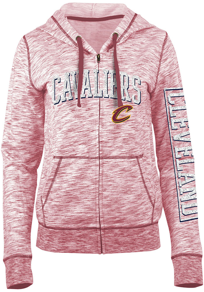 Cleveland Cavaliers Womens Red Athletic Long Sleeve Full Zip Jacket - Image 1