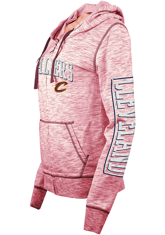Cleveland Cavaliers Womens Red Athletic Long Sleeve Full Zip Jacket - Image 2