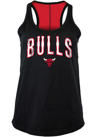 Chicago Bulls Womens Training Camp Racer Back Tank Top - Black