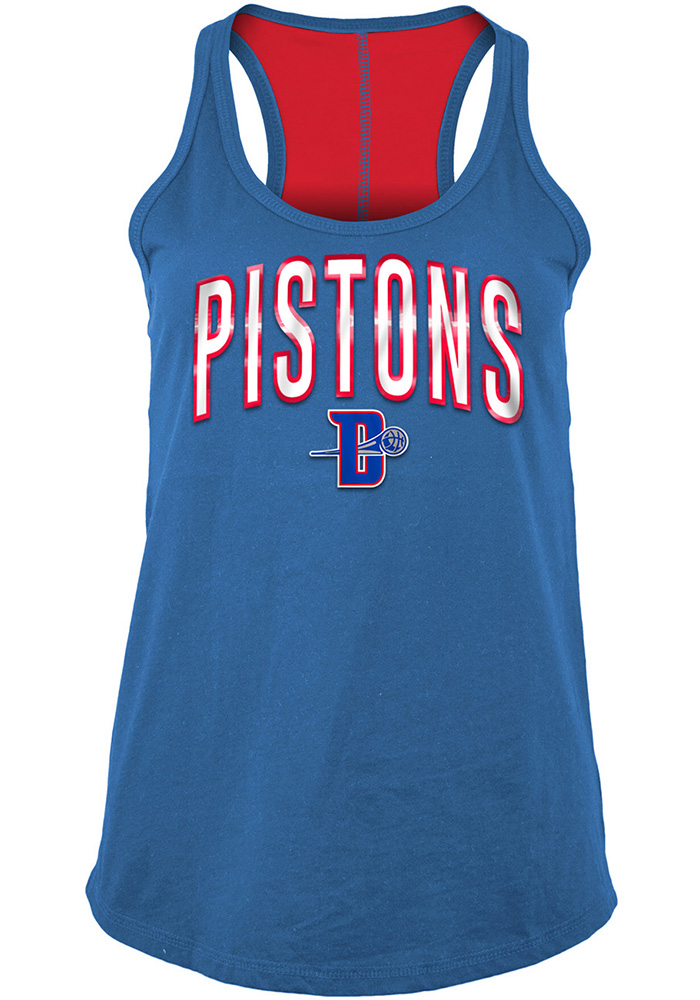 Detroit Pistons Womens Blue Training Camp Racer Back Tank Top 6a05d342e2ef