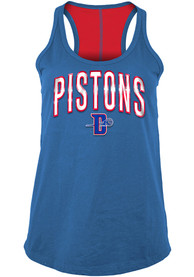 Detroit Pistons Womens Training Camp Racer Back Tank Top - Blue