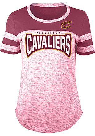 Cleveland Cavaliers Womens Red Athletic Space Dye Rhinestone T-Shirt ce1b52540d