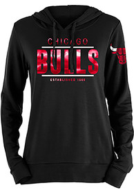 Chicago Bulls Womens Novelty Foil Hooded Sweatshirt - Red