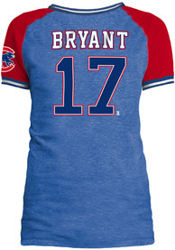 Kris Bryant Chicago Cubs Womens Blue Opening Night Player Tee
