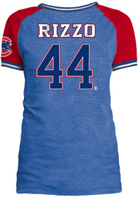 Anthony Rizzo Chicago Cubs Womens Blue Opening Night Player Tee